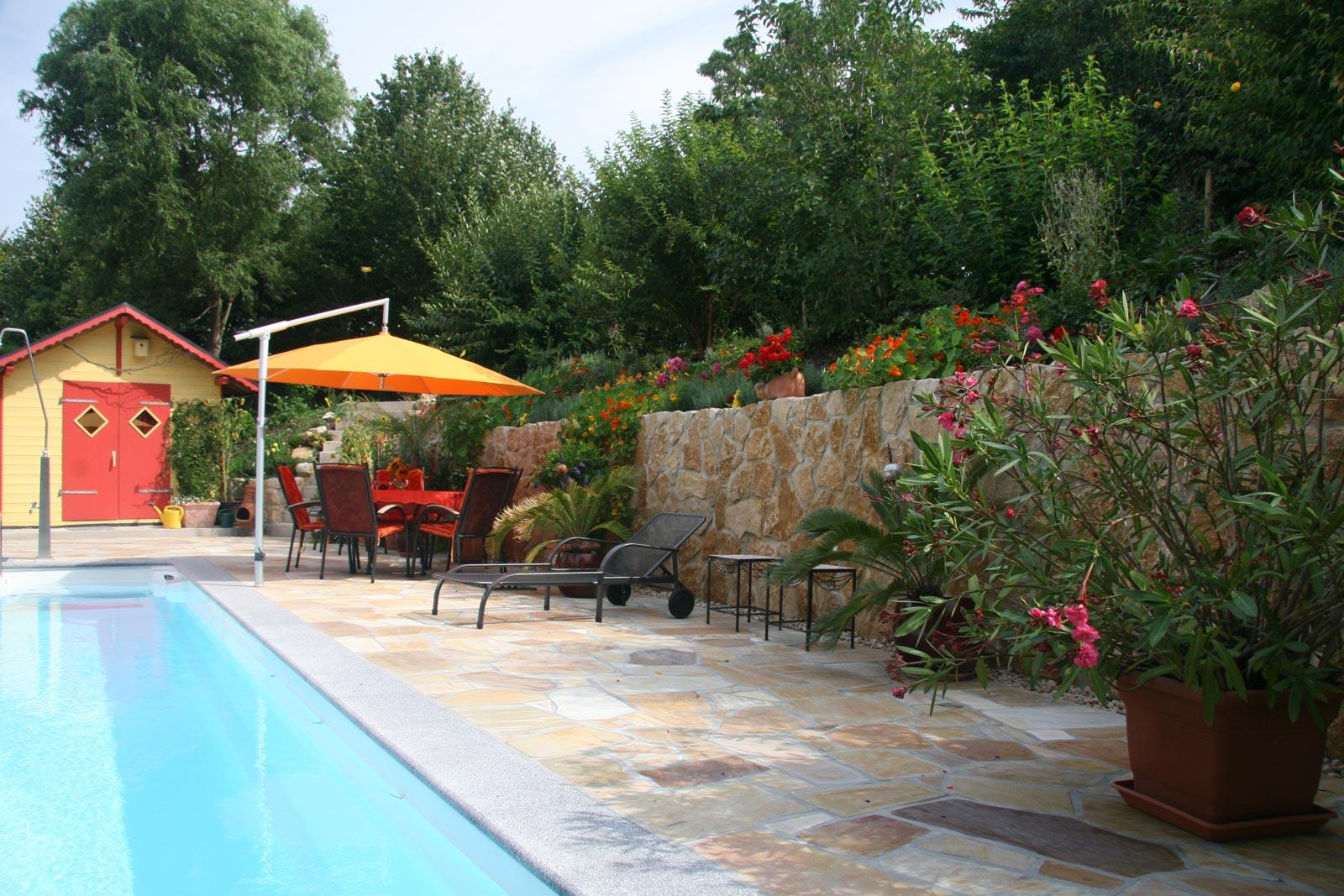 Zaunbau Für Die Abgrenzung Des Gartens
