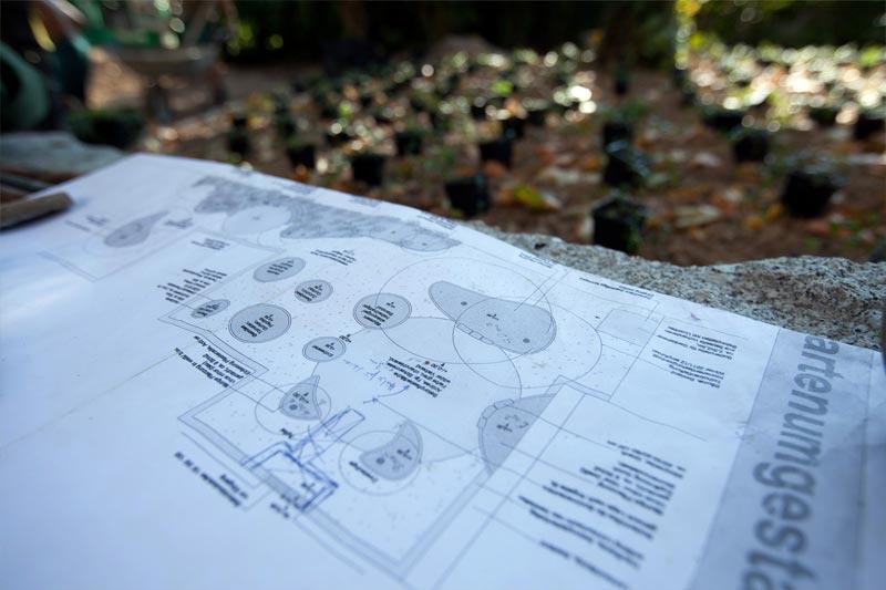 Passgenauer Gartenplan