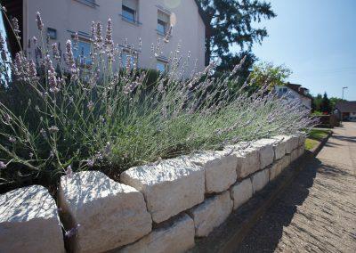 Gartenmauer als Sichtschutz