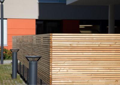 Gartenmauer aus Holz