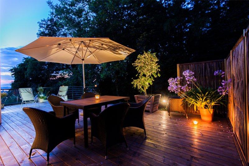Schöne Terrassen für eine Wohlfühlatmosphäre