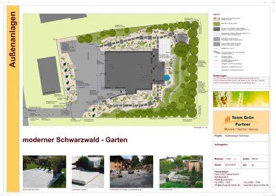 Gartenplan für Designgarten