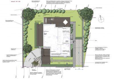 Gartenplan für Gartenanlage mit Panoramablick