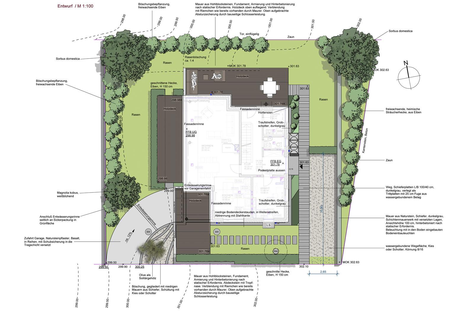 gartengestaltung freiburg hausg rten realisiert von team gr n. Black Bedroom Furniture Sets. Home Design Ideas