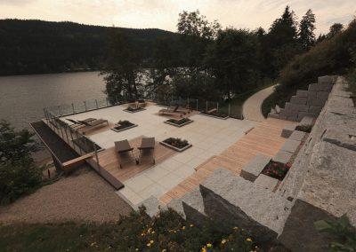 einladende Terrasse vom Alemannenhof