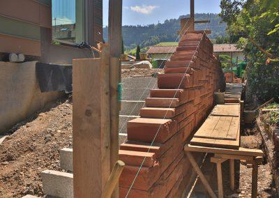 Steintreppe In Handarbeit Für Einen Wunderschönen Garten