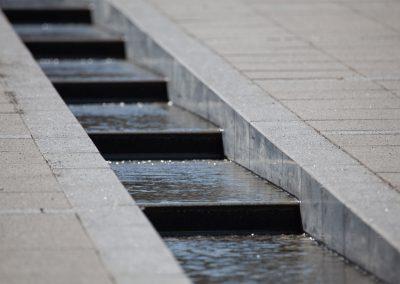 Wasserlauf Vor Dem Keidel Minderalbad In Freiburg