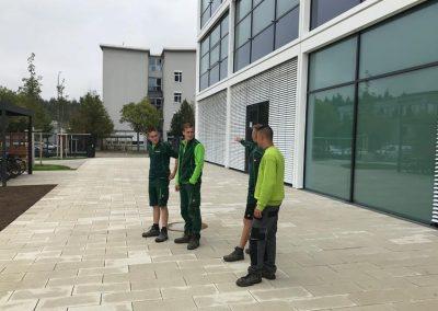Azubis besuchen Team Grün Baustellen