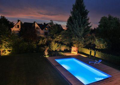 Poolbeleuchtung und Spotlights