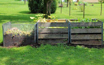 Abfallrecycling durch Komposthaufen