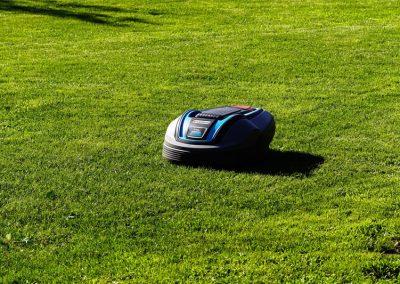 Automatisierter Mähroboter Im Garten