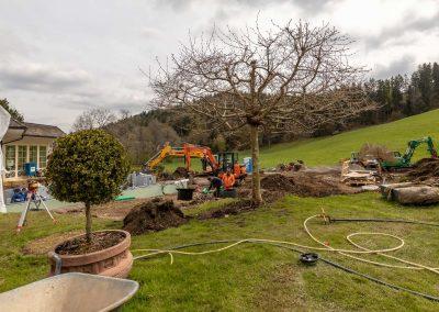 Landschaftsbau durch Team Grün am Wellness Hotel