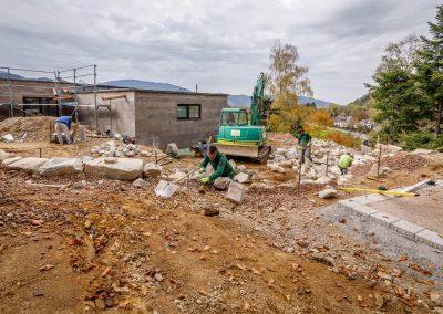 Bauarbeiten An Außenanlage Von Team Grün